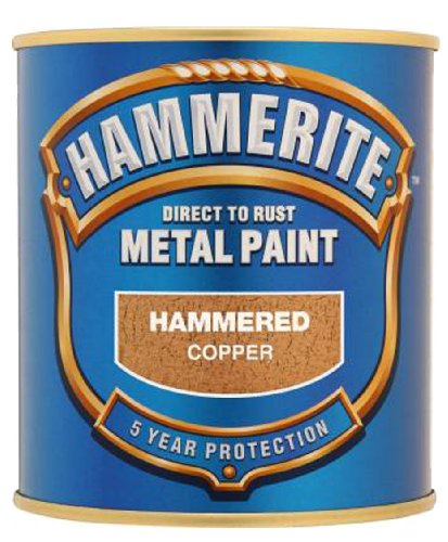 Hammerite Direct to Rust Hammered Finish Metal Paint Copper 250ml