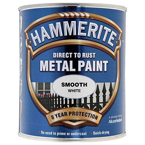 Hammerite Direct To Rust Smooth Finish Metal Paint White 250ml