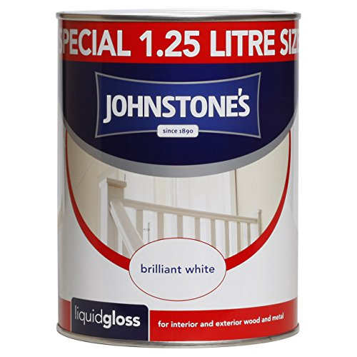 Johnstone's 303870 1.25 Litre Liquid Gloss Paint - Brilliant White