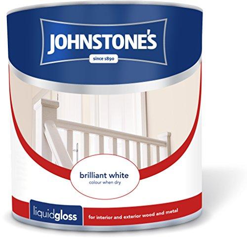 Johnstone's 303897 2.5 Litre Liquid Gloss Paint - Brilliant White