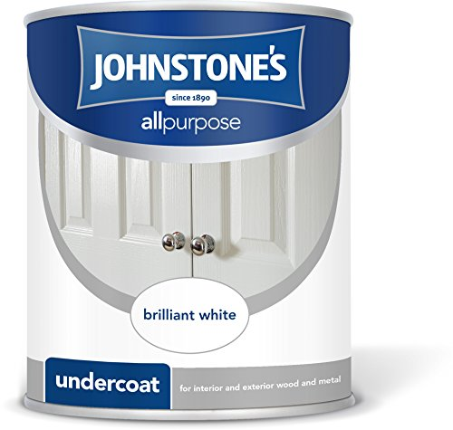 Johnstone's 303901 750ml All Purpose Undercoat Paint - Brilliant White