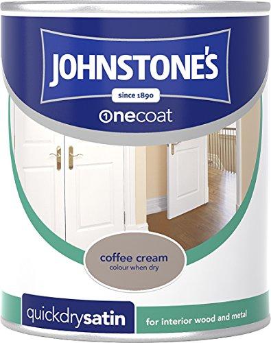 Johnstone's 303915 750ml One Coat Quick Dry Satin Paint - Coffee Cream