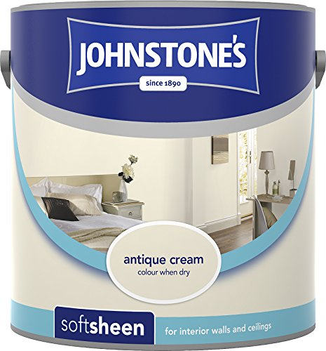 Johnstone's 303949 2.5 Litre Soft Sheen Emulsion Paint- Antique Cream