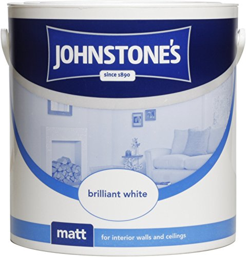 Johnstone's 303967 2.5 Litre Matt Emulsion Paint - Brilliant White
