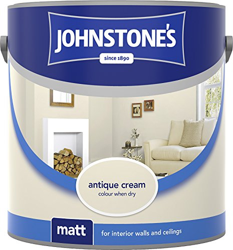 Johnstone's 304003 2.5 Litre Matt Emulsion Paint - Antique Cream