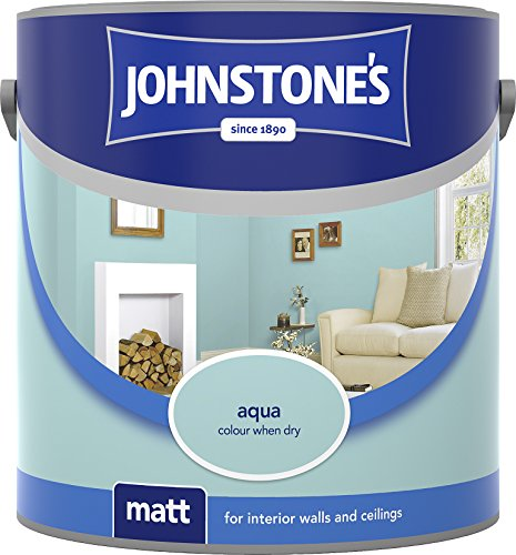 Johnstone's 304004 2.5 Litre Matt Emulsion Paint - Aqua