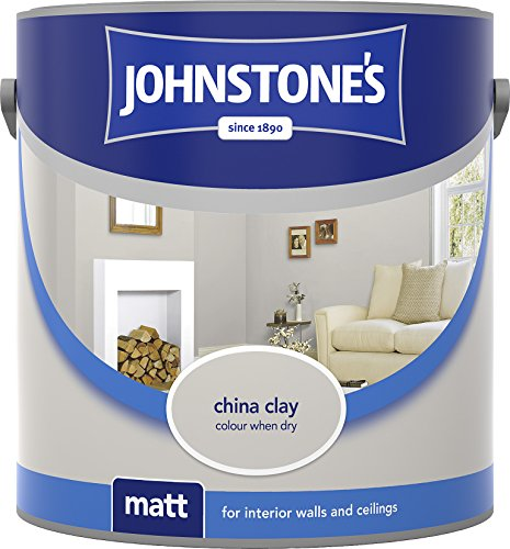 Johnstone's 304013 2.5 Litre Matt Emulsion Paint - China Clay