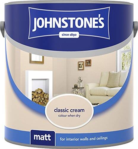 Johnstone's 304014 2.5 Litre Matt Emulsion Paint - Classic Cream