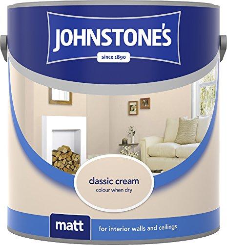 Johnstone's 304014 2.5 Litre Matt Emulsion Paint - Classic Cream
