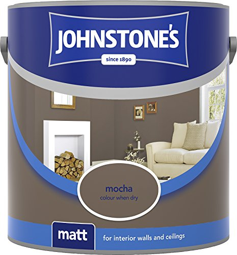 Johnstone's 304026 2.5 Litre Matt Emulsion Paint - Mocha