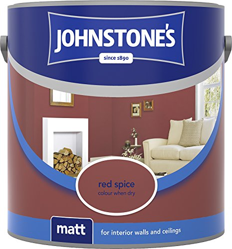 Johnstone's 304029 2.5 Litre Matt Emulsion Paint - Red Spice