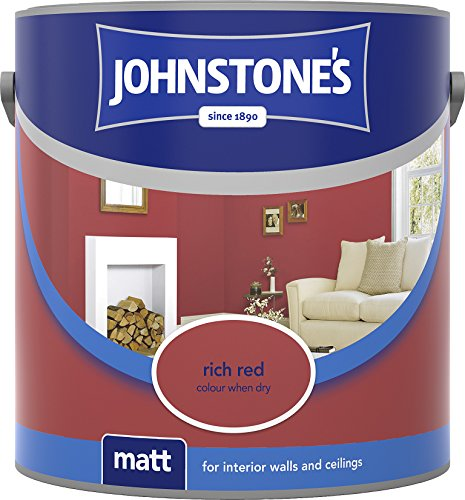 Johnstone's 304030 2.5 Litre Matt Emulsion Paint - Rich Red