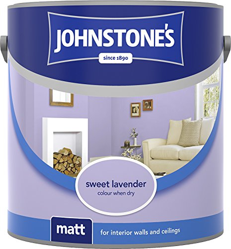 Johnstone's 304035 2.5 Litre Matt Emulsion Paint - Sweet Lavender