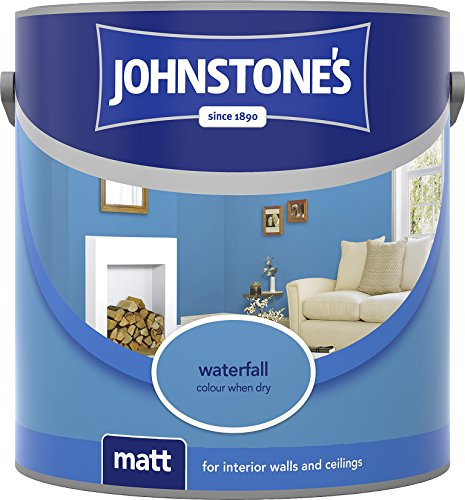 Johnstone's 304043 2.5 Litre Matt Emulsion Paint - Waterfall
