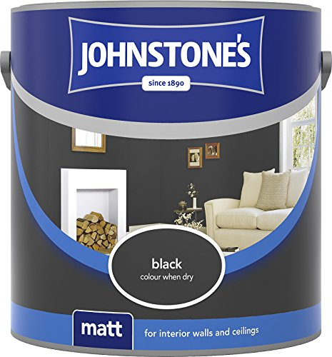 Johnstone's 304044 2.5 Litre Matt Emulsion Paint - Black