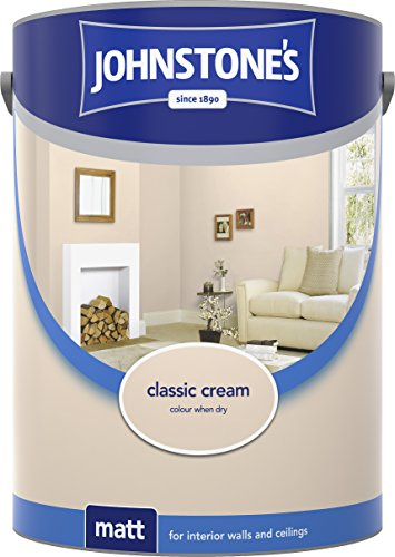 Johnstone's 304049 5 Litre Matt Emulsion Paint - Classic Cream
