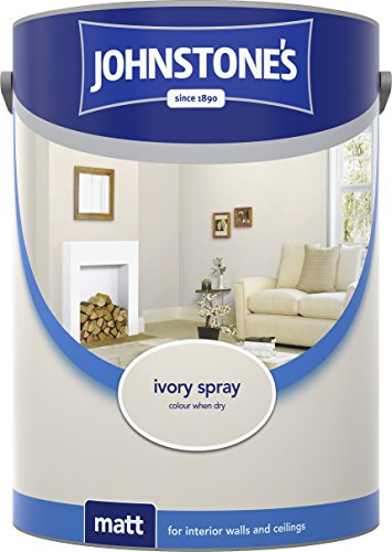 Johnstone's 304053 5 Litre Matt Emulsion Paint - Ivory Spray