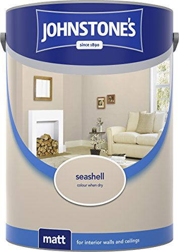 Johnstone's 304057 5 Litre Matt Emulsion Paint - Seashell
