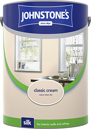 Johnstone's 304079 5 Litre Silk Emulsion Paint - Classic Cream