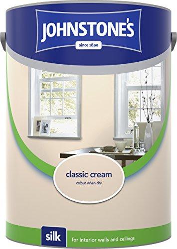 Johnstone's 304079 5 Litre Silk Emulsion Paint - Classic Cream