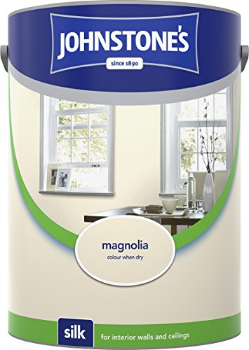 Johnstone's 304085 5 Litre Silk Emulsion Paint - Magnolia