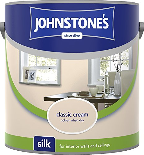 Johnstone's 304099 2.5 Litre Silk Emulsion Paint - Classic Cream