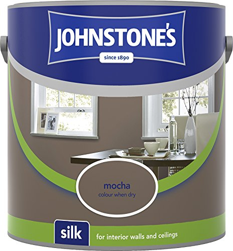 Johnstone's 304111 2.5 Litre Silk Emulsion Paint - Mocha