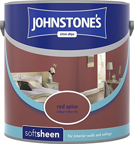 Johnstone's 304155 2.5 Litre Soft Sheen Emulsion Paint - Red Spice