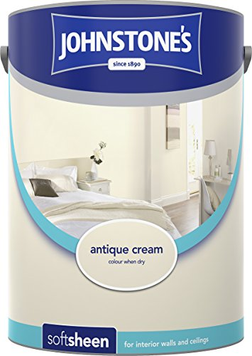 Johnstone's 304181 5 Litre Soft Sheen Emulsion Paint - Antique Cream