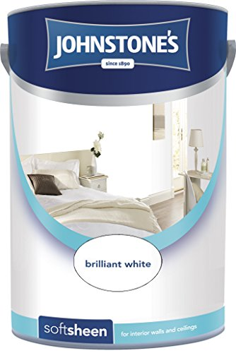 Johnstone's 304199 5 Litre Soft Sheen Emulsion Paint - Brilliant White