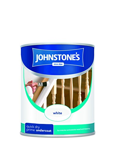 Johnstone's 305464 250ml Quick Drying Primer Undercoat Paint - White