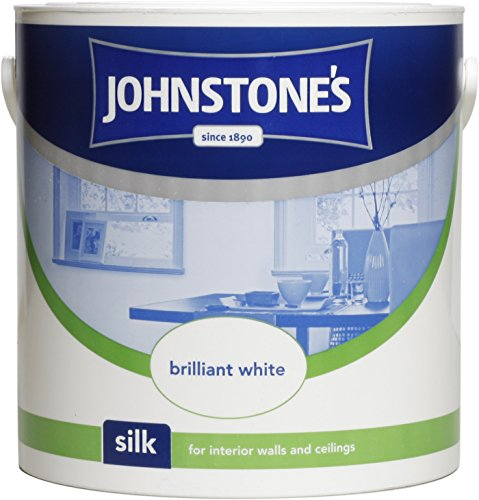 Johnstone's 306569 2.5 Litre Silk Emulsion Paint - Brilliant White