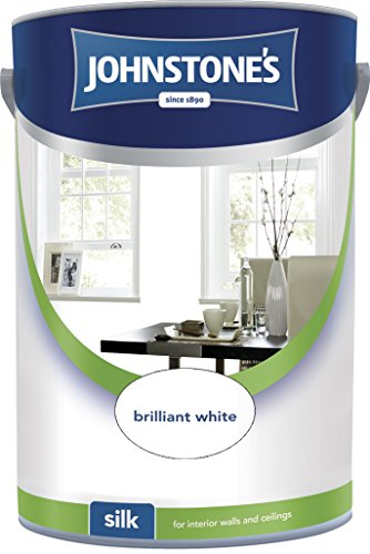 Johnstone's 306570 5 Litre Silk Emulsion Paint - Brilliant White