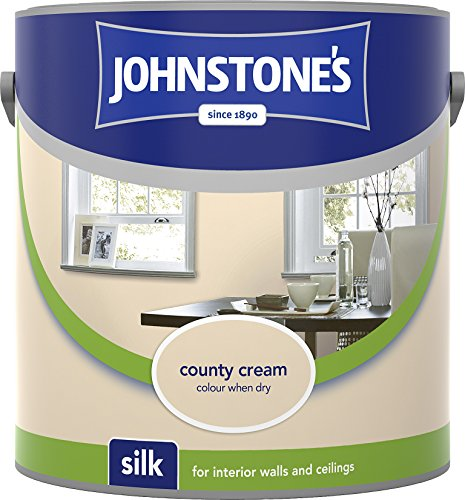 Johnstone's 306574 2.5 Litre Silk Emulsion Paint - County Cream