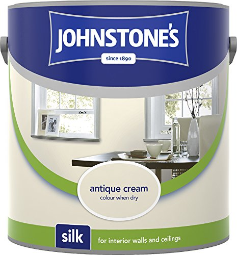 Johnstone's 306590 2.5 Litre Silk Emulsion Paint - Antique Cream
