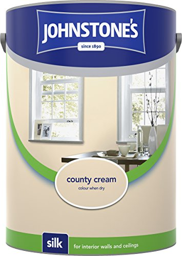 Johnstone's 306598 5 Litre Silk Emulsion Paint - County Cream