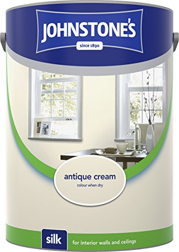 Johnstone's 306605 5 Litre Silk Emulsion Paint - Antique Cream