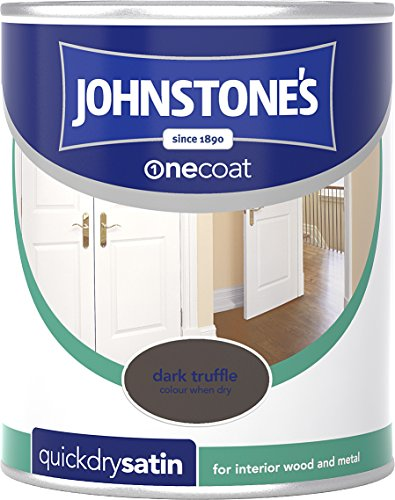 Johnstone's 303918 750ml One Coat Quick Dry Satin Paint - Dark Truffle