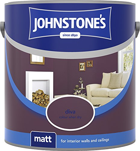 Johnstone's 304018 2.5 Litre Matt Emulsion Paint - Diva