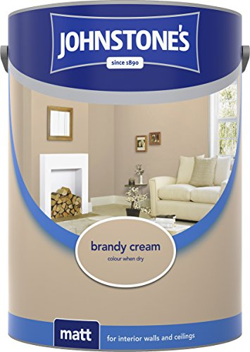 Johnstone's 304046 5 Litre Matt Emulsion Paint - Brandy Cream