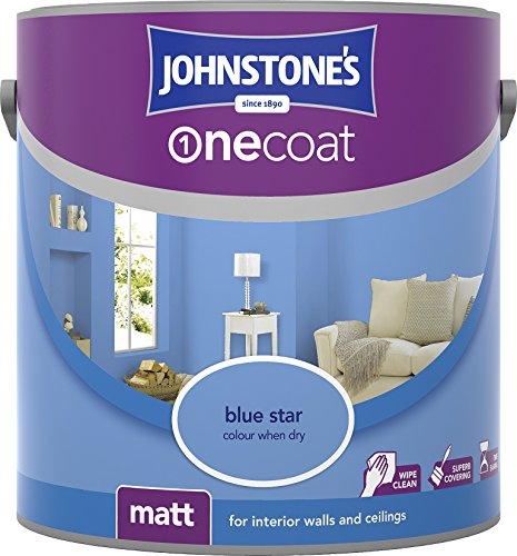 Johnstone's 304129 2.5 Litre One Coat Matt Emulsion Paint - Blue Star