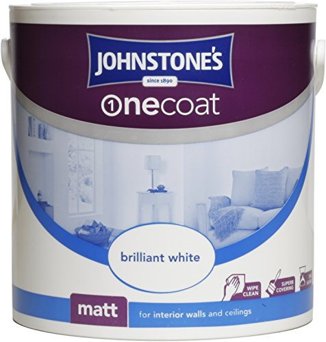 Johnstone's 304133 2.5 Litre One Coat Matt Emulsion Paint  - Brilliant White