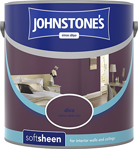 Johnstone's 304142 2.5 Litre Soft Sheen Emulsion Paint - Diva