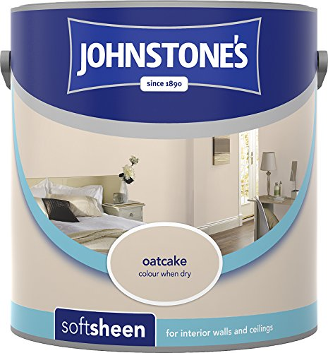 Johnstone's 304151 2.5 Litre Soft Sheen Emulsion Paint - Oatcake