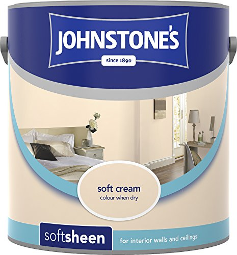 Johnstone's 304160 2.5 Litre Soft Sheen Emulsion Paint - Soft Cream