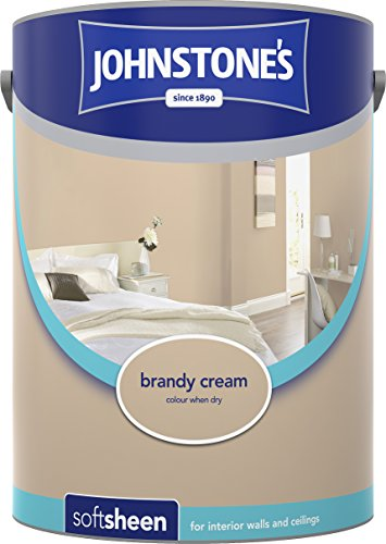 Johnstone's 304182 5 Litre Soft Sheen Emulsion Paint - Brandy Cream