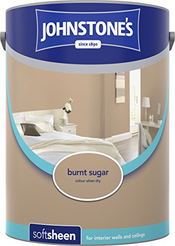 Johnstone's 304183 5 Litre Soft Sheen Emulsion Paint - Burnt Sugar
