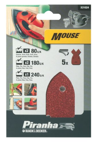 Black & Decker Mouse Sanding Sheets (5 Assorted)