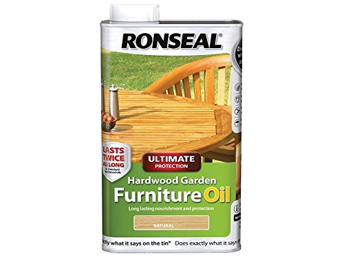 Ronseal Ultimate Protection Hardwood Garden Furniture Oil Natural 1 Litre