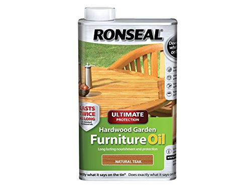 Ronseal Ultimate Protection Hardwood Garden Furniture Oil Natural Teak 1 Litre